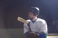 Портрет игрока хоккея на льде Стоковые Фото
