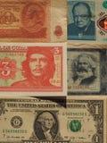 портрет известных политиков на банкнотах Стоковое Фото