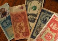 портрет известных политиков на банкнотах Стоковая Фотография RF