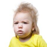 Портрет изолированного младенца осадки стоковая фотография