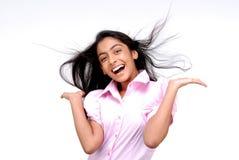 Портрет индийской счастливой девушки Стоковое Изображение