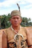 портрет Индонесии kalimantan мыжской соплеменный Стоковые Фото