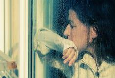 Портрет искусства красивой детенышей девушки уныло Стоковое Фото