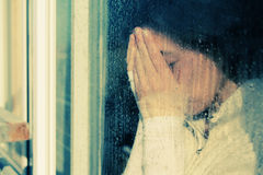 Портрет искусства красивой детенышей девушки уныло Стоковое фото RF
