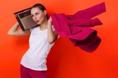 Портрет искусства моды элегантной нагой молодой женщины Стоковые Изображения RF