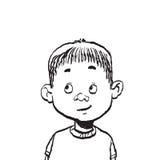 Портрет иллюстрации изолята мальчика Стоковое Фото