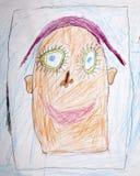 Портрет карандаша счастливого человека Стоковые Фотографии RF