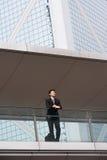 Портрет китайского бизнесмена вне офиса Стоковое Изображение