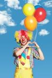 портрет клоуна воздушных шаров Стоковое Изображение
