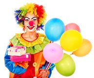 Портрет клоуна. стоковые фотографии rf