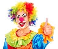 Портрет клоуна. стоковая фотография