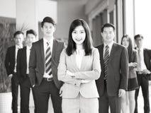 Портрет команды азиатских бизнесменов стоковые изображения