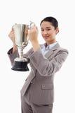 Портрет коммерсантки держа чашку Стоковое Изображение