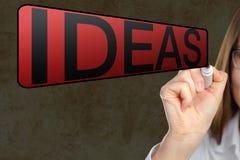 Портрет коммерсантки указывая at'Ideas Стоковое Изображение RF