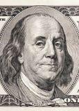 Портрет конца-вверх Бенджамина Франклина Стоковое Изображение RF