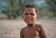 Портрет конца-вверх девушки от племени Сан Стоковые Изображения