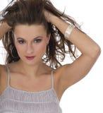 Портрет Конца-вверх красивейшей женщины с professi стоковая фотография rf