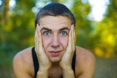 Портрет конца-вверх молодого человека Стоковые Фотографии RF