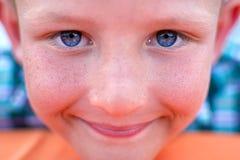 Портрет конца мальчика вверх Стоковая Фотография RF