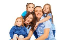 Портрет концепции семьи, счастья и влюбленности стоковое фото