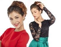 Портрет коллажа красивых молодых женщин Стоковое Изображение RF