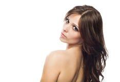 портрет красивейшего крупного плана женский модельный Стоковые Изображения