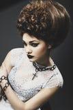 Портрет красивейшей дамы Стоковые Изображения