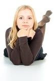Портрет красивейшей белокурой девушки стоковое изображение rf