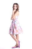 Портрет красивейшей девушки в розовом платье Стоковое Изображение RF