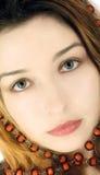 портрет красивейшей девушки загадочный Стоковые Фото