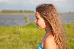 Портрет красивейшей девушки с длинними волосами Стоковое Фото