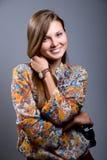 Портрет красивейшей девушки с солнечными очками Стоковое Изображение