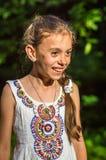 Портрет красивейшей девушки в парке Стоковая Фотография