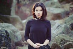 портрет красивейшей девушки напольный Стоковая Фотография
