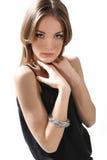 Портрет красивейшей девушки на белизне Стоковые Фото