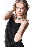 Портрет красивейшей девушки на белизне Стоковое фото RF