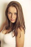 Портрет красивейшей женщины брюнет Стоковые Изображения