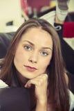Портрет красивейшей женщины брюнет Стоковые Изображения RF