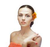 Портрет красивейшей женщины спы Стоковое фото RF