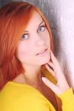 Портрет красивейшей красн-с волосами девушки Стоковое Изображение RF