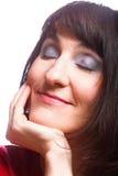 Портрет красивейшей молодой сь стороны женщины Стоковые Фото