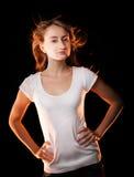Портрет красивейшей молодой женщины Стоковая Фотография