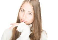 Портрет красивейшей сексуальной девушки изолированной на белизне. Стоковое фото RF
