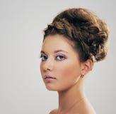 Портрет красивейшей стороны девушки Стоковые Изображения