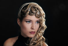 Портрет красивейшей стороны девушки стоковая фотография rf