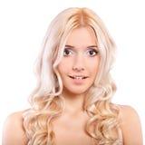 Портрет красивейшей fair-haired девушки стоковое фото rf