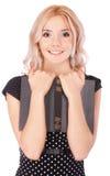 Портрет красивейшей fair-haired девушки стоковые фотографии rf