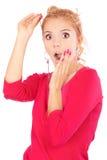 Портрет красивейшей fair-haired девушки стоковая фотография
