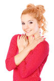 Портрет красивейшей fair-haired девушки стоковое изображение rf