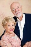Портрет красивейших старших пар Стоковая Фотография